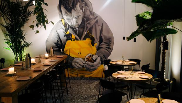 Hands on: Chef Niall Davidson was heavily involved in the interiors of Allta