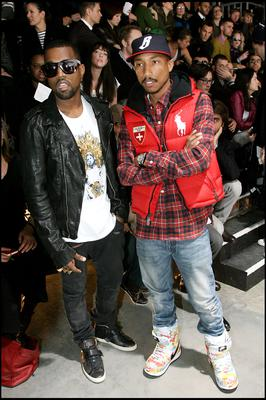 Pharrell Williams and rapper Kanye West