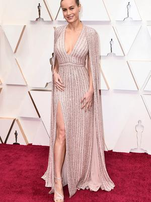 Brie Larson arrives at the Oscars, at the Dolby Theatre in Los Angeles. Photo: Jordan Strauss/Invision/AP