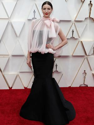 Caitriona Balfe poses on the red carpet during the Oscars arrivals at the 92nd Academy Awards in Hollywood, Los Angeles, California, U.S. REUTERS/Eric Gaillard