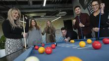 Pot luck: employees at Indeed.com, where staff can avail of unlimited days off. Photo by Maura Hickey