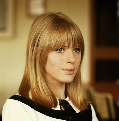 Marianne Faithful at Aston Studios during the filming of 'Thank Your Luck Stars' TV show in May, 1965 in Birmingham. That same year she neglected Dylan's advances.