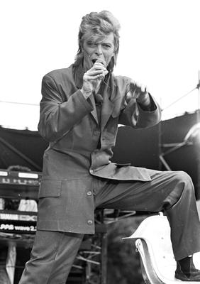 David Bowie performing at Slane Castle in 1987