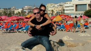 Home from home: Dubliner John Costello and his girlfriend Liat moved to Liat's home country of Israel almost seven years ago
