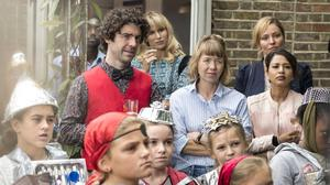 Parents in Sharon Horgan's Motherland tackle the delicate relationships that come with sending the kids to school