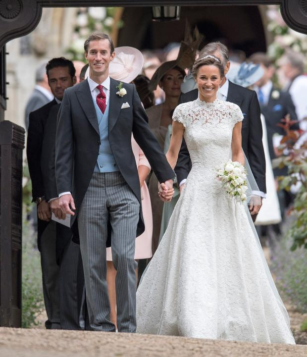 The happy couple: Pippa Middleton and her husband James Matthews