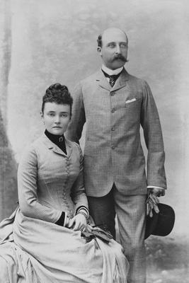 The first Duke and Duchess of Connaught, Arthur and Louise in 1887.