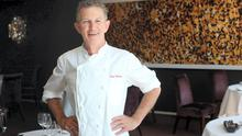 Kevin Thornton, hair-gelled, with the look of an older commis chef. Photo: Martin Maher.