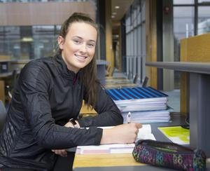 Finish line in sight: Ciara Neville has to work around her athletics training to make time for Leaving Cert study. Photo: Liam Burke Press22