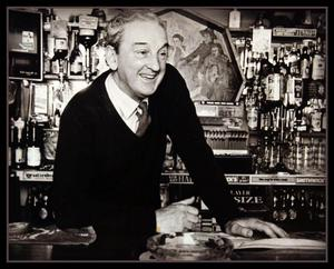 Famous son: The late playwright John B Keane in his Listowel pub