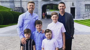 Brian Ormond and Robbie Keane went to Adare Manor with their families