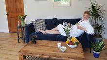 Home comforts: Boudicca Fox-Leonard relaxes in her at-home spa