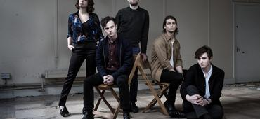 Little Green Cars, from left, Faye O'Rourke, Adam O'Regan, Dylan Lynch, Donagh Seaver O'Leary, and Stevie Appleby.
