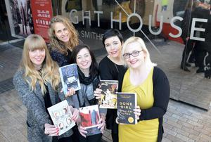 From right to left: Charlene Lydon, Chelsea Morgan Hoffmann, Helen Hutton, Rebecca Davies and Aoife O'Regan at the Lighthouse cinema in Smithfield, Dublin