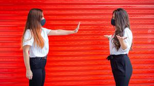 Back off: Telling your friend to keep their distance can be awkward