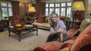 Cathy in her more formal sitting room, which is used at Christmas and for big family get-togethers