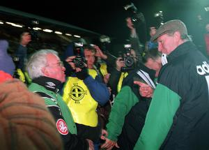 That night in November: Post-match tension in Windsor Park for World Cup game in 1993.