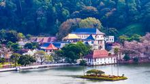 The temple of the Sacred Tooth Relic in Kandy, Sri Lanka