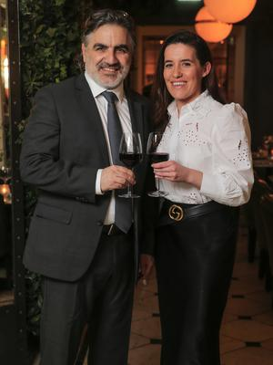 Tarek Sakr and Katie Farrell pictured in the Westbury Hotel.  Photo: Gerry Mooney