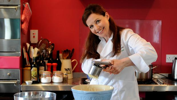 Catherine Fulvio with her potato ricer. PIC: DAVE MEEHAN