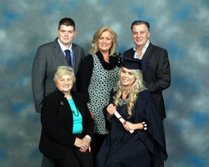 LOVING FAMILY: (clockwise from top left) Andrew Clarke, his mother Sallyanne and father Derry, sister Sarah May and Sallyanne's mother Sadie