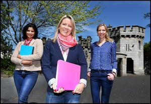Tania Downing, Suzy Cousins and Daniela Liebing who run civilpartnerships.ie from their company Audio Networks in Killiney. Photo: Steve Humphreys