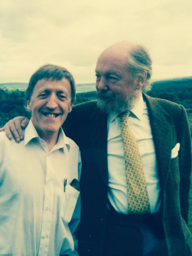 The Guinness heir with Paddy Moloney of The Chieftains, a band Browne helped form