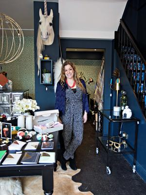 Bold not beige: Lisa Marconi and her business partner Sarah Drumm wanted to encourage people to inject a little humour into their interiors, and their shop Dust is geared towards helping shoppers do just that