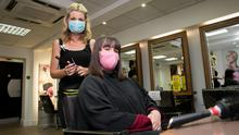 Hair today: Tara Murphy with Louise Cantwell at Ultimate Hair & Beauty in Dublin. Photo:Gareth Chaney/Collins