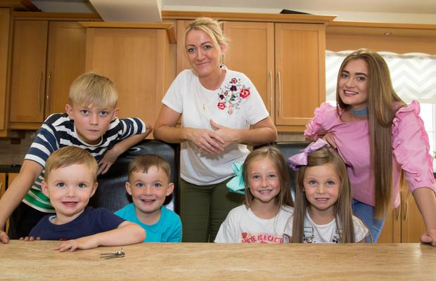 Chaos: Debbie Harmon's Ballyfermot home is often filled with kids; her own six, and several of their friends.