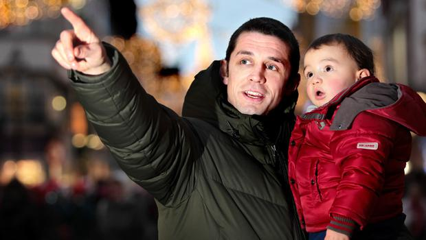 Alan Quinlan and his son AJ (now seven).