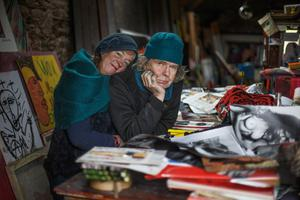 Artist Mick Mulcahy and his partner Vera photographed in County Wexford.  Photo: Mark Condren