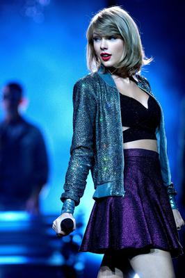 Stagestruck: Taylor Swift has been criticised for her stage antics by feminist author Camille Paglia