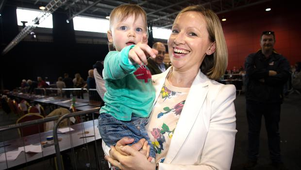 'My work is completely unpredictable':  Lucinda Creighton, mother to Gwendolyn (15 months). Photo: Tony Gavin.