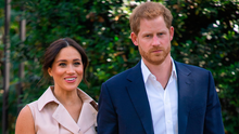Harry with his wife Meghan. PA Photo