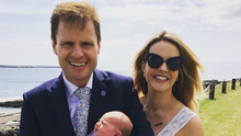 Family first: Aoibhin with her daughter Hanorah and husband John. Picture: Instagram