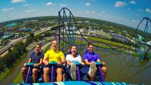 Mako, the newest addition, is Orlando's tallest, longest and fastest hypercoaster, offering spins, twists and turns that provide a breath-taking adrenalin rush