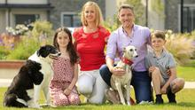 Amy and Eoin Lynch with their children Alannah (11) and Ethan (10), along with their dogs Bella and Finch. PHOTO: GERRY MOONEY