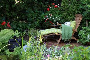 If your garden is big enough and has an open aspect, choose your place of recreation in the area that's least overlooked - this could be the patio directly outside your house, or it may be that your secret quiet spot is down the end of your plot.