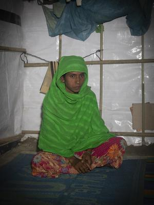 Rabia is one of almost a million Rohingya refugees forced to flee Myanmar, now supported by Oxfam in Cox's Bazar
