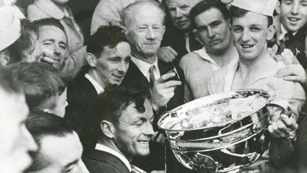 The highlight of Kevin Heffernan's inter-county career was captaining Dublin to the 1958 All-Ireland title.