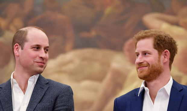 Brothers' rift: Princes William and Harry in recent times . Photo: TOBY MELVILLE/AFP/Getty Images