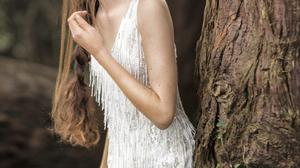 'Anastasia', hand-embroidered icicle gown, €1,608