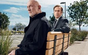 Jimmy and Mike in 'Better Call Saul'. Both characters also featured in 'Breaking Bad'