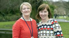 Roisin (left) and Cliona Maher are both involved in the 'Finding a Voice' festival. Photo: Tony Gavin