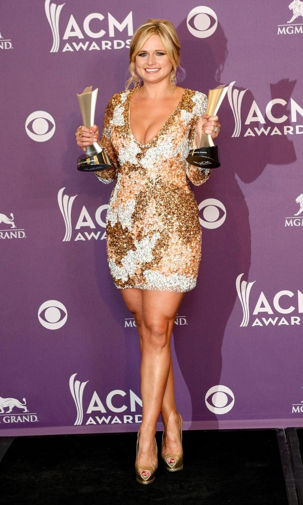 Miranda Lambert after winning two gongs at the 47th annual Academy of Country Music Awards