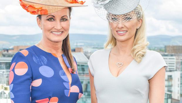 Style stakes: Annette Rocca and Jane Given at the Marker Hotel. Photo: Anthony Woods.