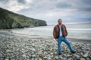 Author and film-maker Kevin Toolis near his home on Achill Island, Co Mayo. Photo: Keith Heneghan