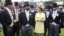 Foiled: Princess Latifa's father and stepmother, Sheikh Mohammed bin Rashid Al Maktoum and Princess Haya (centre) at Ascot racecourse in England