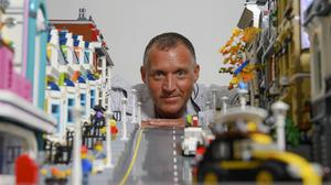 Graham Young runs a YouTube channel called The Lego Leprechaun. Photo: Daragh Mc Sweeney/Provision